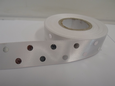 25mm Metallic Polka Dot Satin ribbon, 2 or 20 metres White with Silver spots